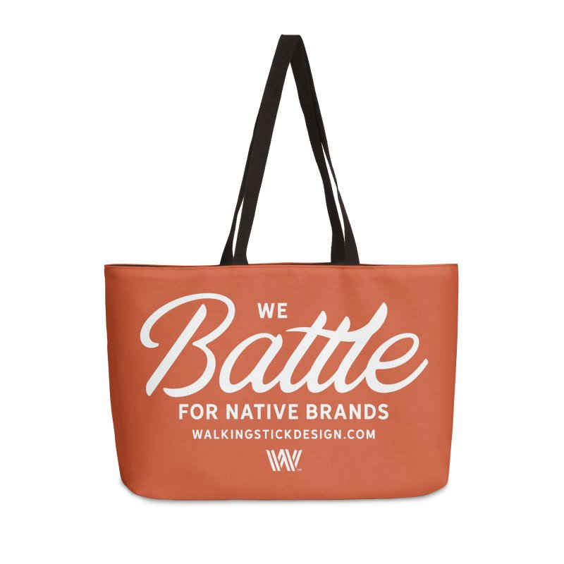 Battle + WalkingStick Design Co. Accessories Weekender Bag Bag by WalkingStick Design's Artist Shop