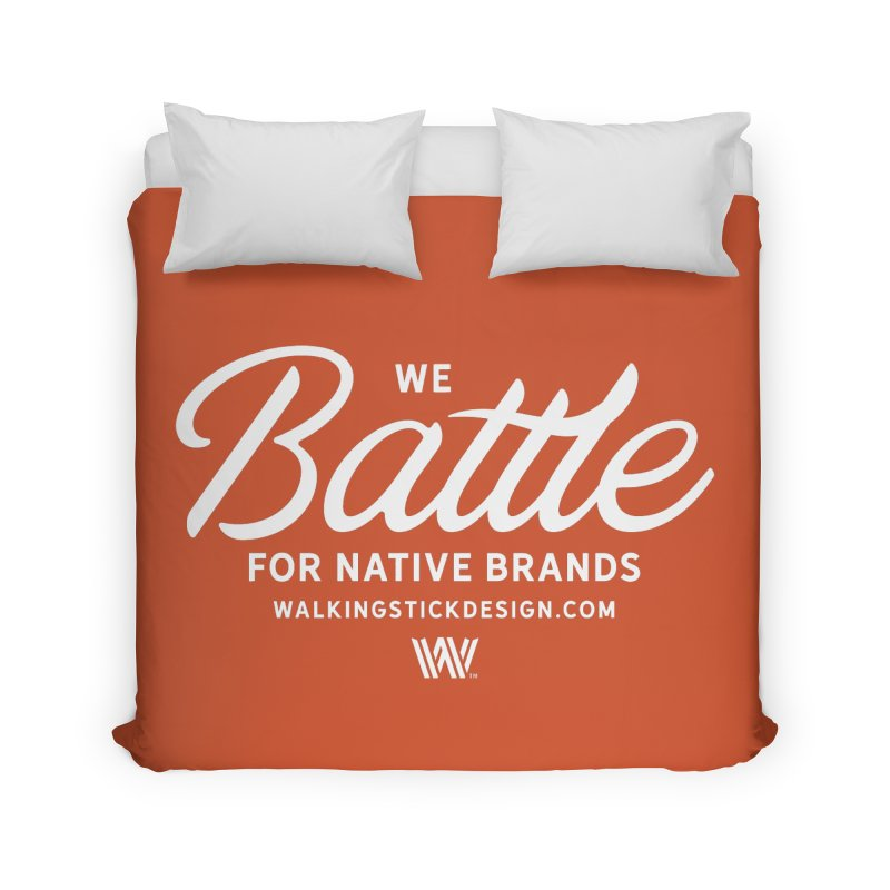 Battle + WalkingStick Design Co. Home Duvet by WalkingStick Design's Artist Shop
