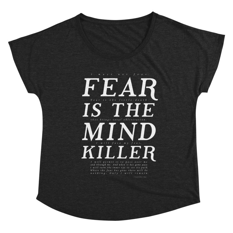 Litany Against Fear Women's Scoop Neck by thunderpeel