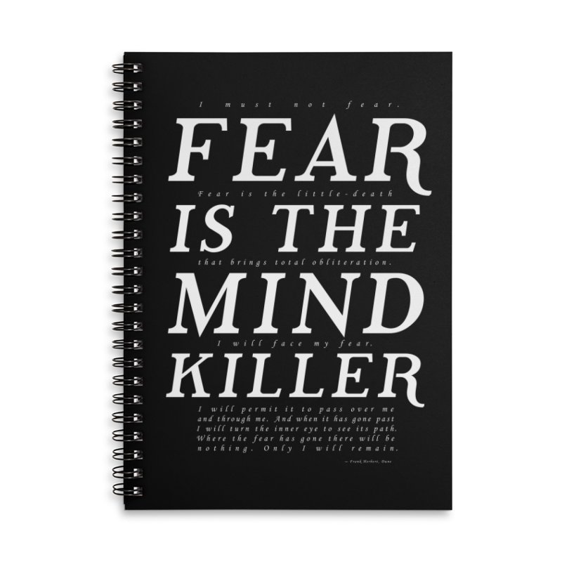 Litany Against Fear Accessories Lined Spiral Notebook by thunderpeel