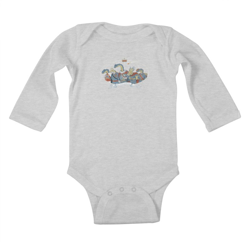 When Dinosaurs Ruled the Earth Kids Baby Longsleeve Bodysuit by thunderpeel