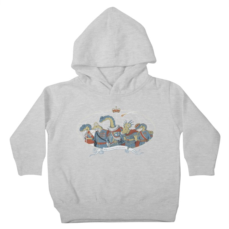 When Dinosaurs Ruled the Earth Kids Toddler Pullover Hoody by thunderpeel