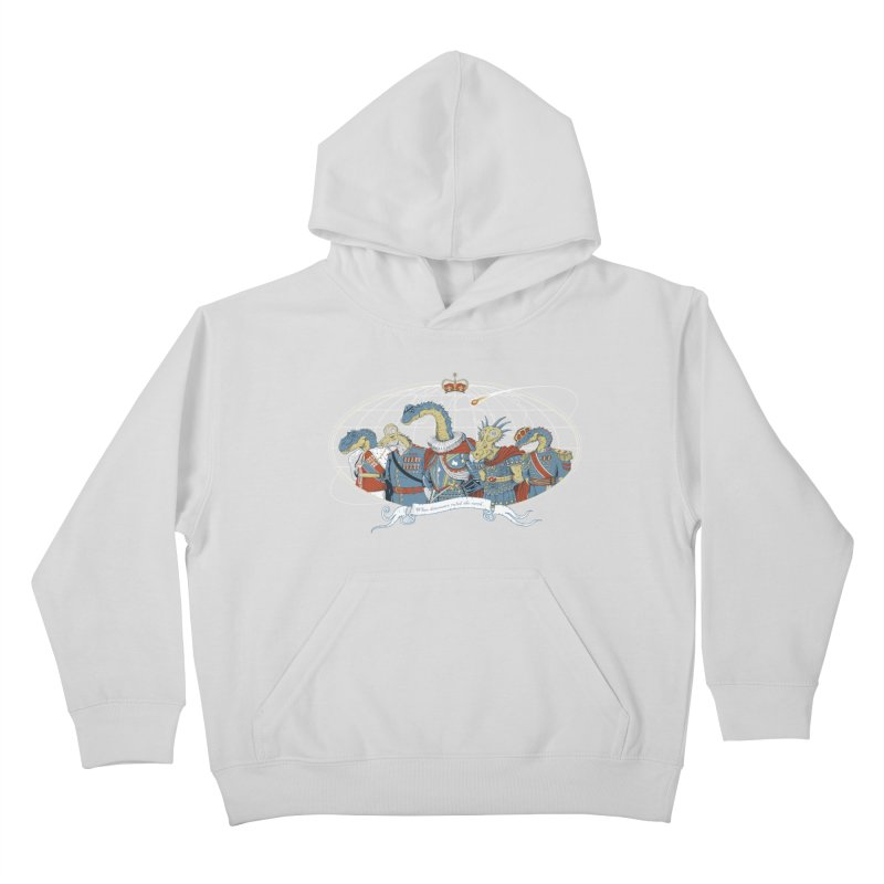 When Dinosaurs Ruled the Earth Kids Pullover Hoody by thunderpeel