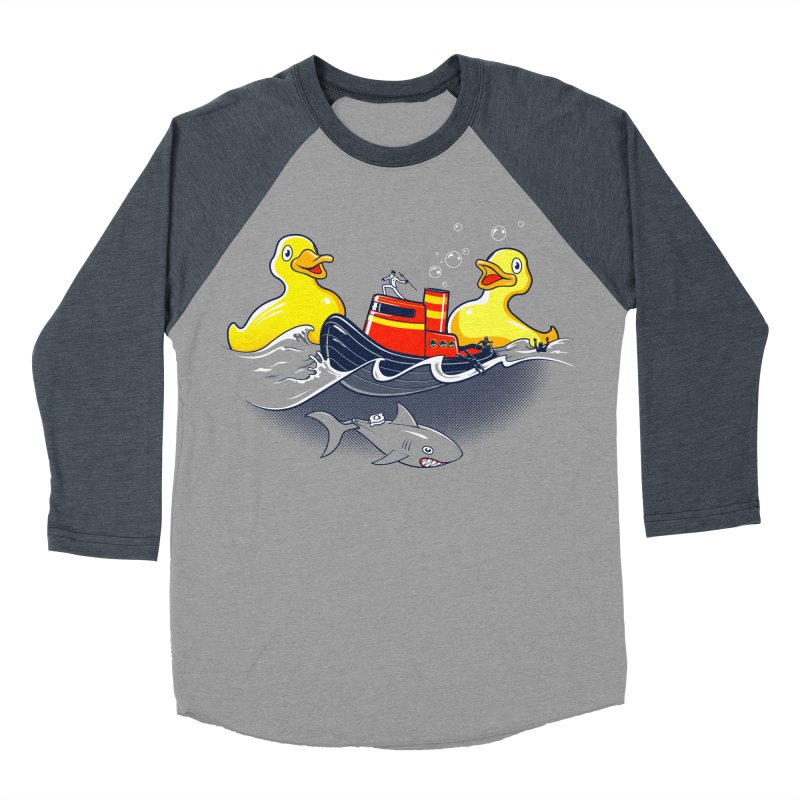 Quack Attack Men's Baseball Triblend T-Shirt by thunderpeel