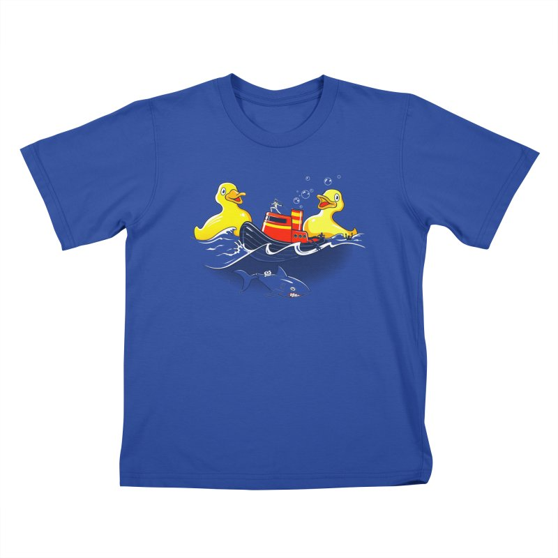 Quack Attack Kids T-Shirt by thunderpeel