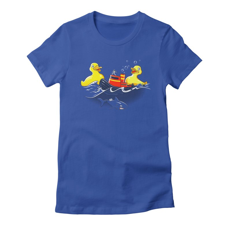 Quack Attack Women's Fitted T-Shirt by thunderpeel