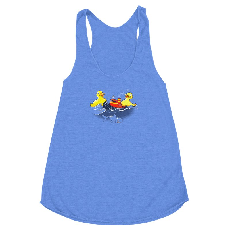 Quack Attack Women's Racerback Triblend Tank by thunderpeel