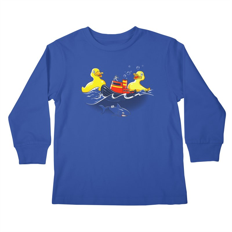 Quack Attack Kids Longsleeve T-Shirt by thunderpeel