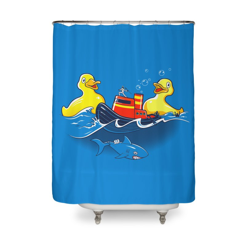 Quack Attack Home Shower Curtain by thunderpeel