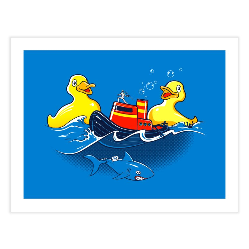 Quack Attack Home Fine Art Print by thunderpeel