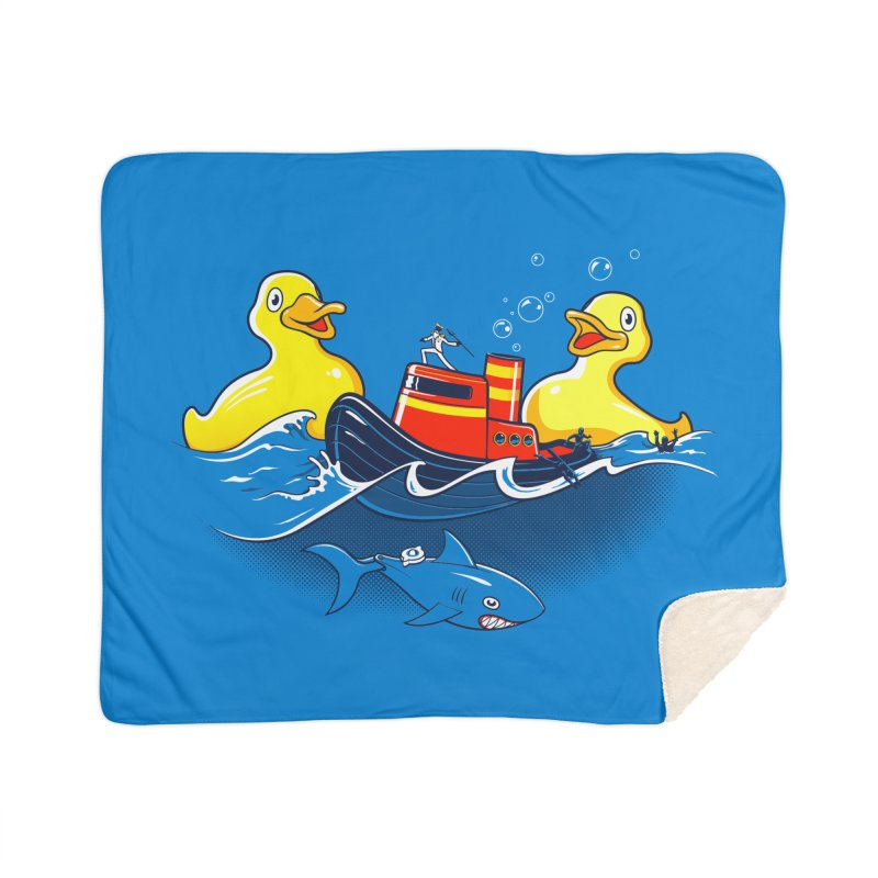 Quack Attack Home Sherpa Blanket Blanket by thunderpeel