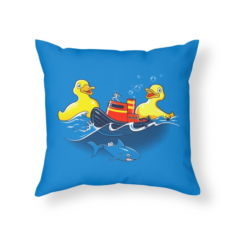 Quack Attack Home Throw Pillow by thunderpeel
