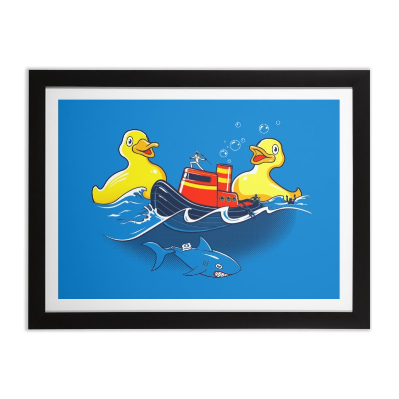Quack Attack Home Framed Fine Art Print by thunderpeel