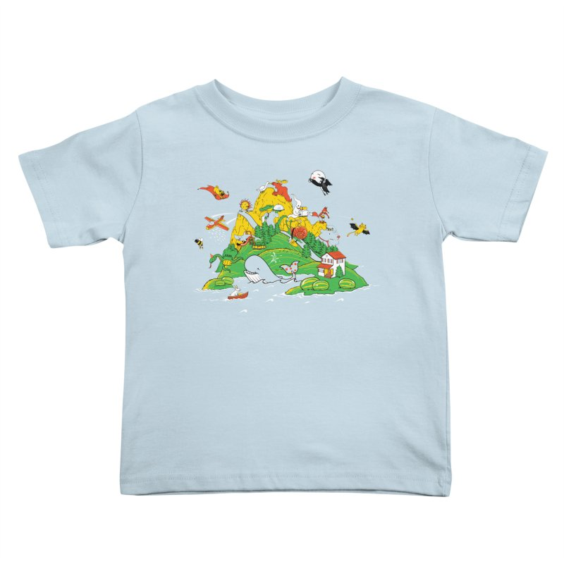 Down by the Bay Kids Toddler T-Shirt by thunderpeel