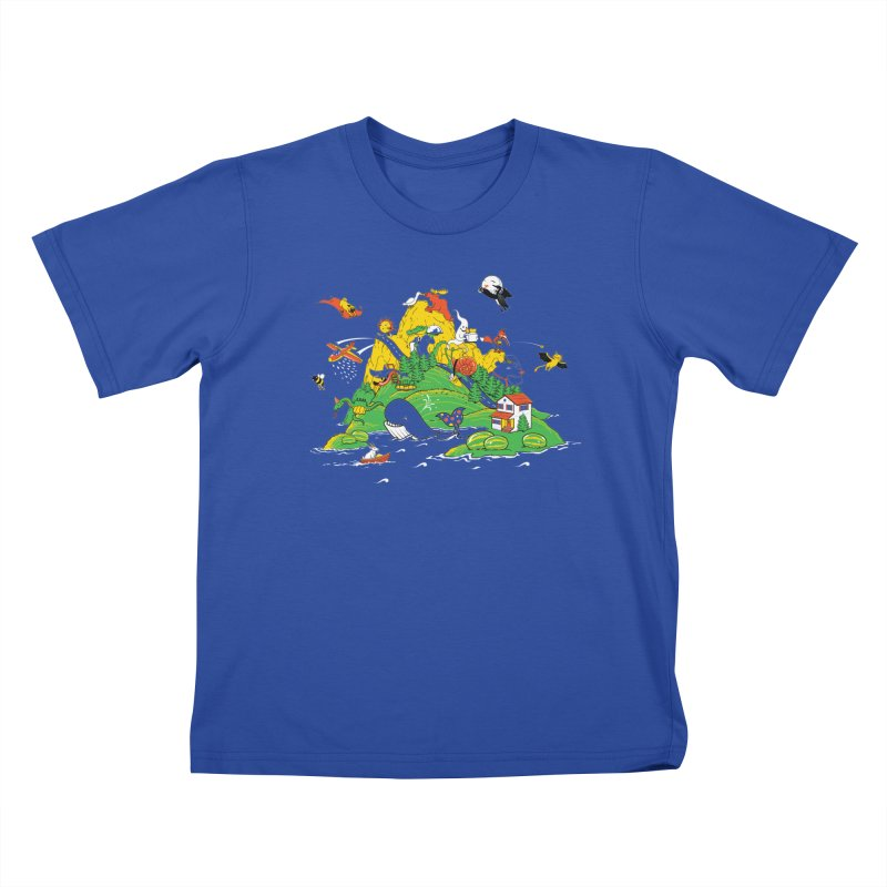 Down by the Bay Kids T-Shirt by thunderpeel
