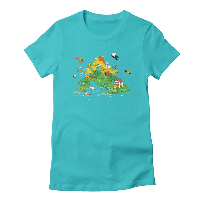 Down by the Bay Women's Fitted T-Shirt by thunderpeel