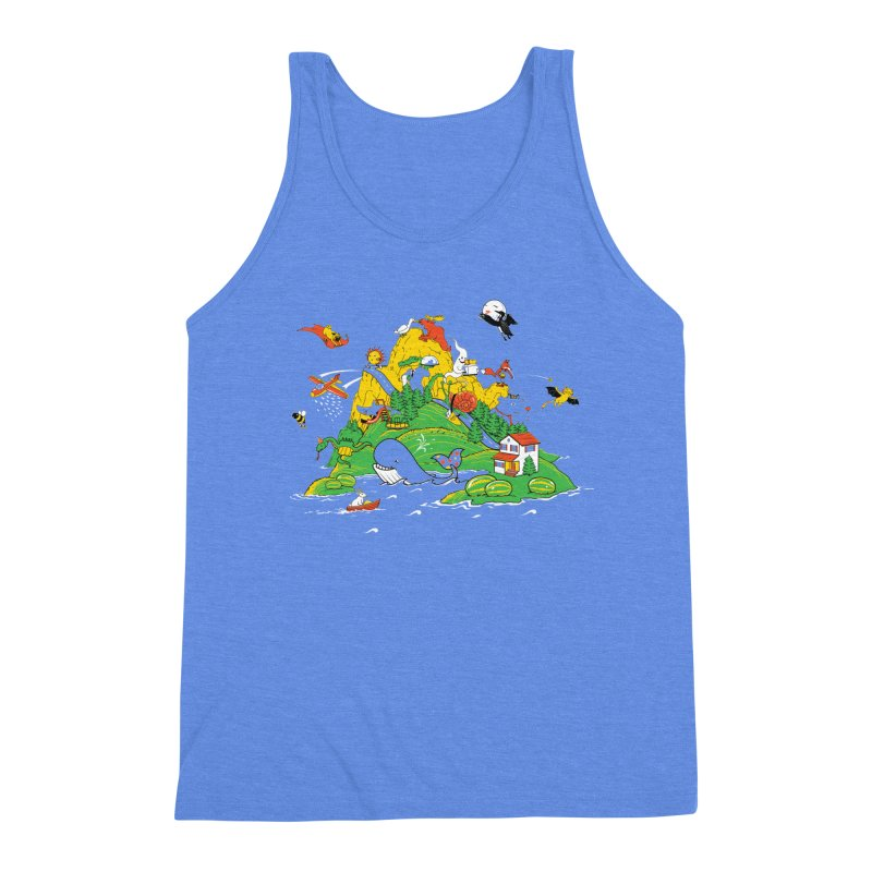 Down by the Bay Men's Triblend Tank by thunderpeel