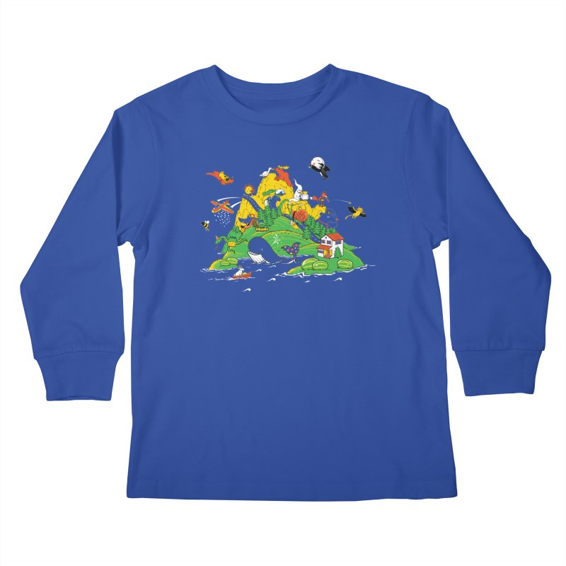Down by the Bay Kids Longsleeve T-Shirt by thunderpeel