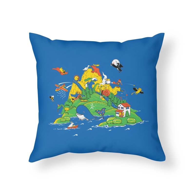 Down by the Bay Home Throw Pillow by thunderpeel