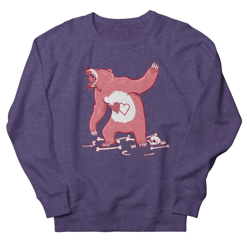 Terror Bear Men's French Terry Sweatshirt by thunderpeel