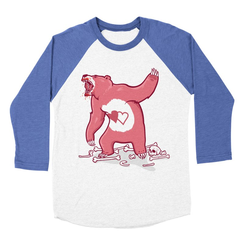 Terror Bear Women's Baseball Triblend T-Shirt by thunderpeel