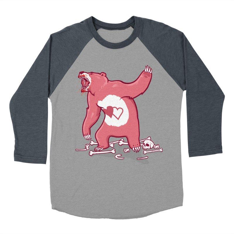 Terror Bear Men's Baseball Triblend T-Shirt by thunderpeel