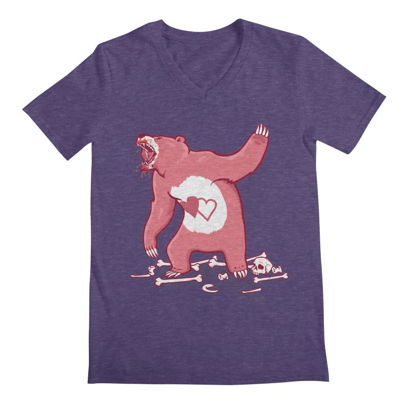 Terror Bear Men's V-Neck by thunderpeel