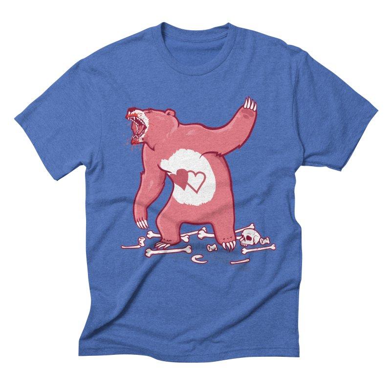 Terror Bear Men's Triblend T-shirt by thunderpeel