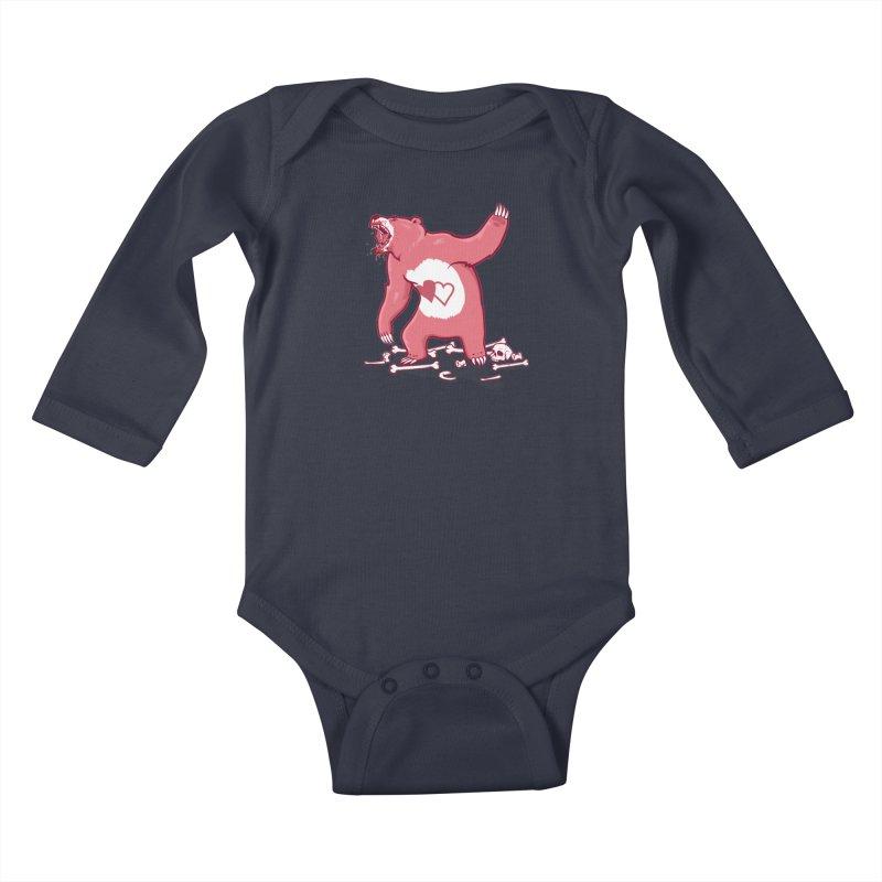 Terror Bear Kids Baby Longsleeve Bodysuit by thunderpeel