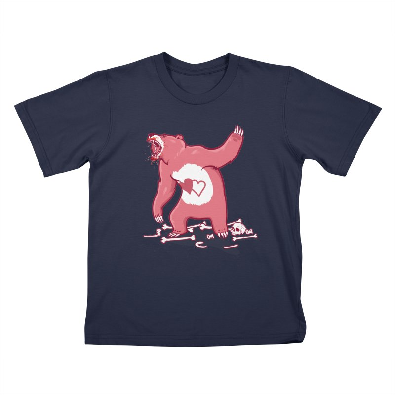 Terror Bear Kids T-Shirt by thunderpeel