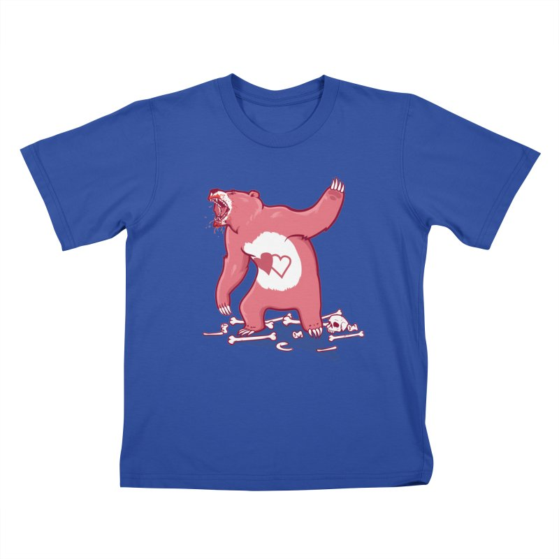 Terror Bear Kids T-Shirt by thunderpeel