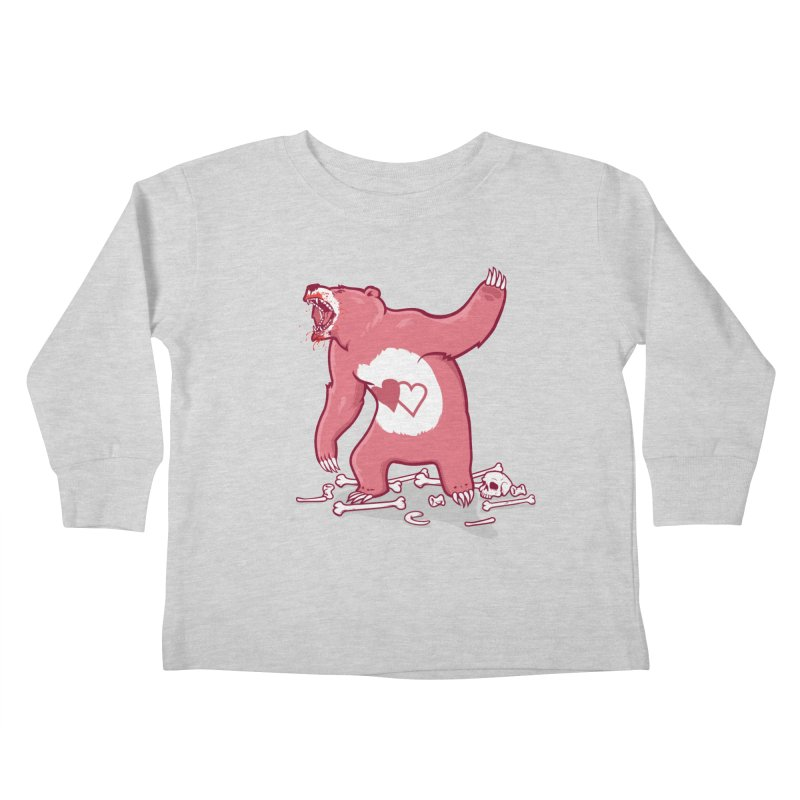 Terror Bear Kids Toddler Longsleeve T-Shirt by thunderpeel