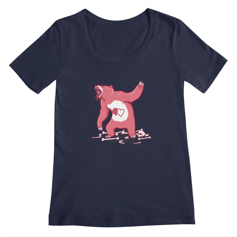 Terror Bear Women's Scoopneck by thunderpeel