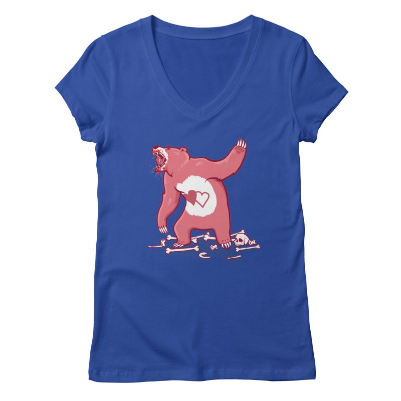Terror Bear Women's V-Neck by thunderpeel