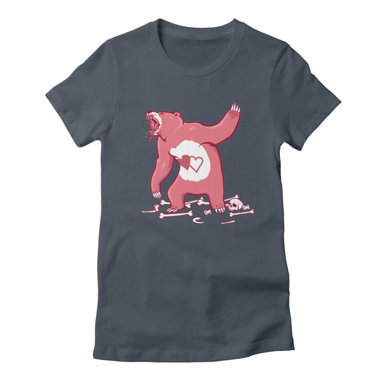 Terror Bear Women's Fitted T-Shirt by thunderpeel