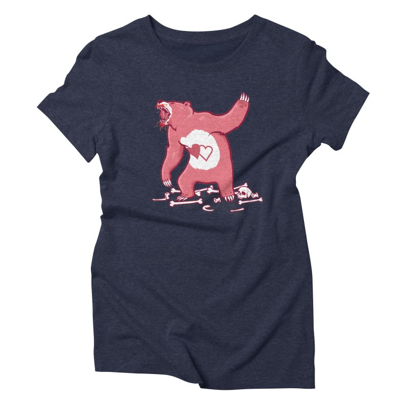 Terror Bear Women's Triblend T-shirt by thunderpeel