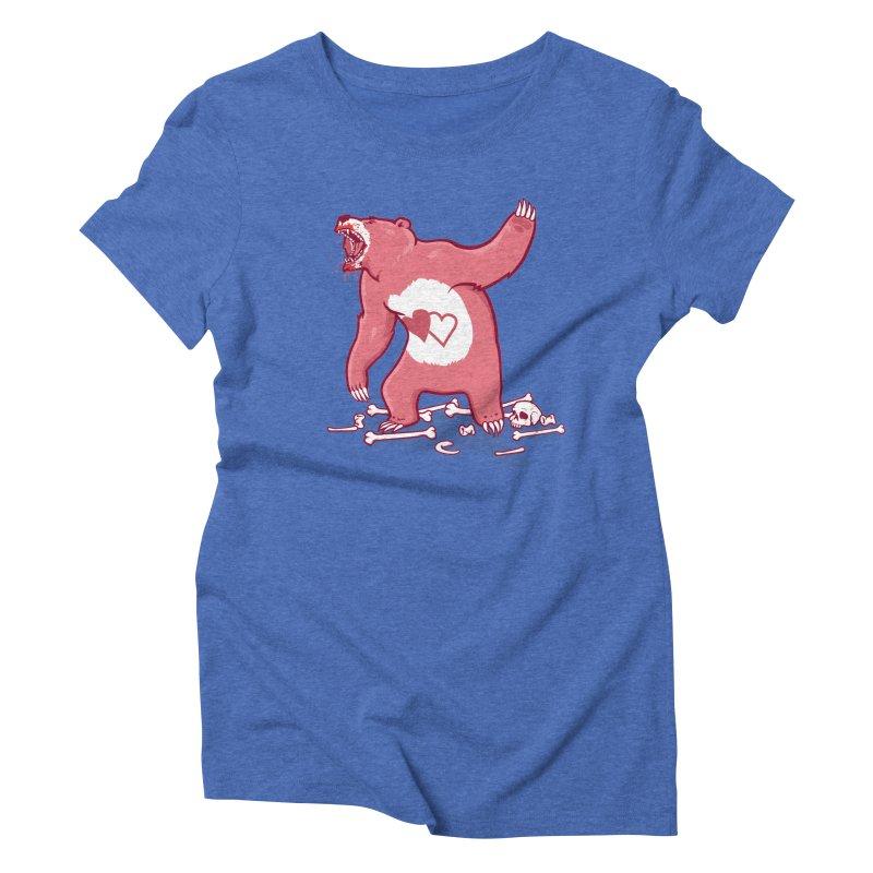 Terror Bear Women's Triblend T-shirt by thunderpeel