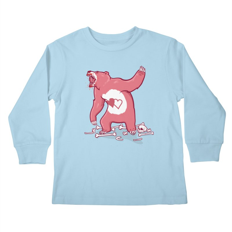 Terror Bear Kids Longsleeve T-Shirt by thunderpeel
