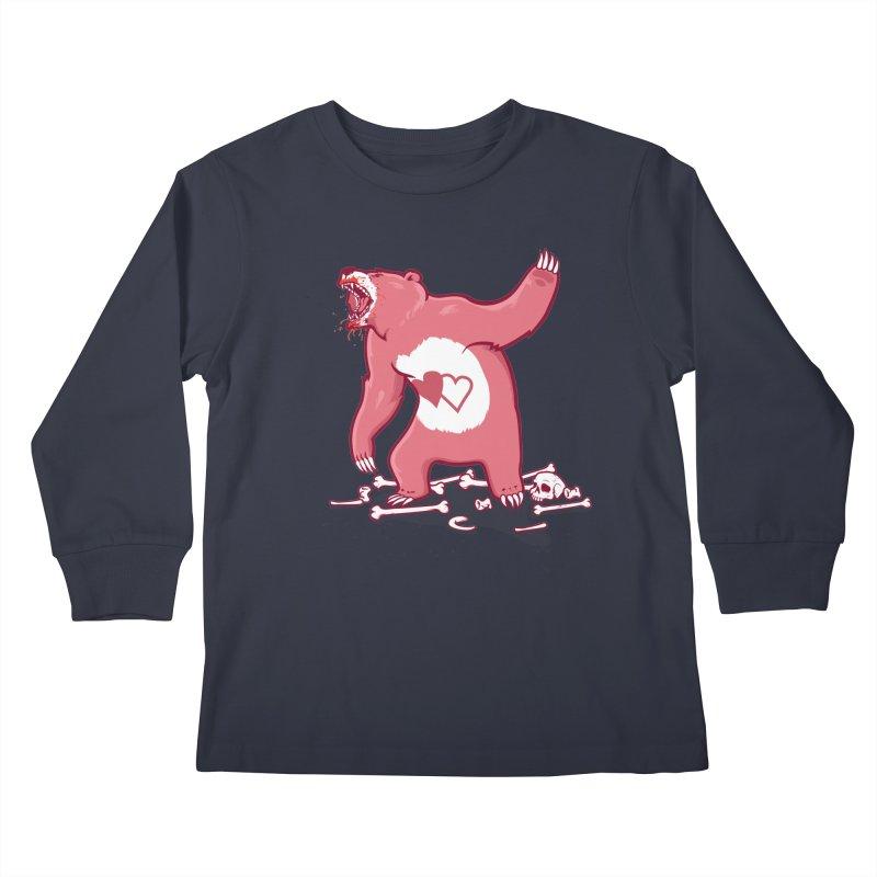 Terror Bear Kids Longsleeve T-Shirt by thunderpeel
