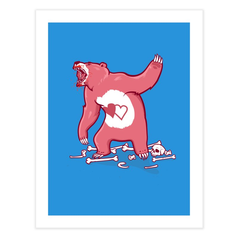 Terror Bear Home Fine Art Print by thunderpeel