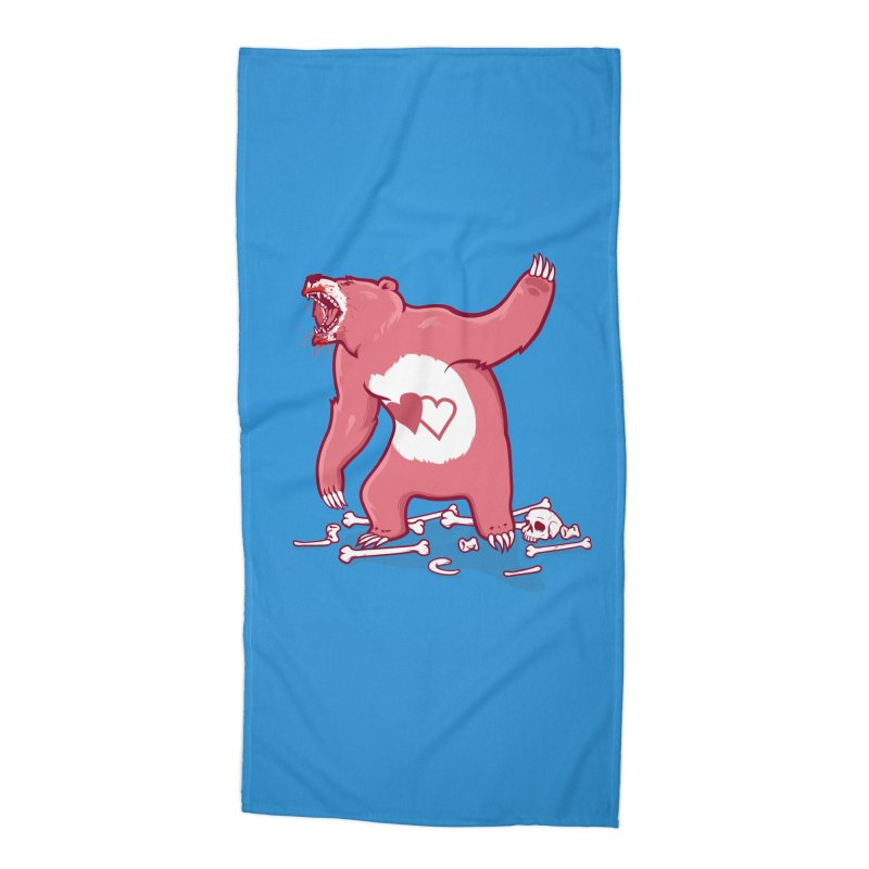 Terror Bear Accessories Beach Towel by thunderpeel
