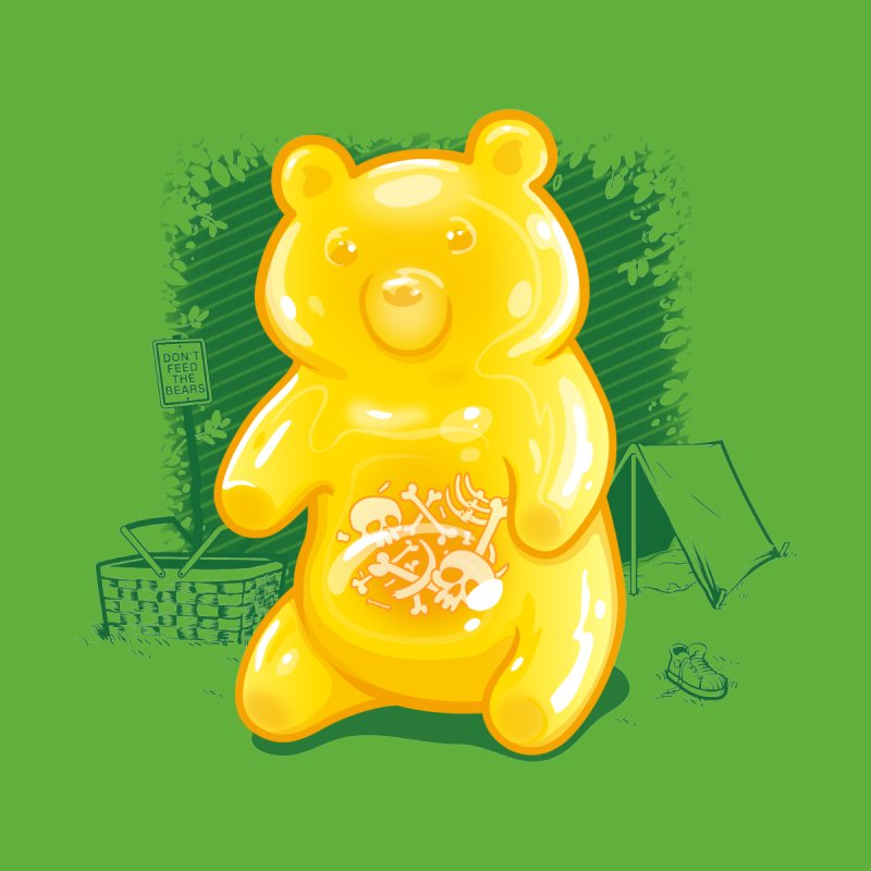 Grizzly Gummi Home Throw Pillow by thunderpeel