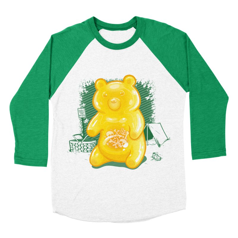 Grizzly Gummi Men's Baseball Triblend T-Shirt by thunderpeel