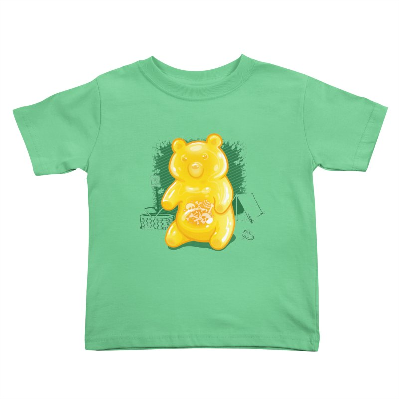 Grizzly Gummi Kids Toddler T-Shirt by thunderpeel