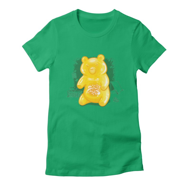 Grizzly Gummi Women's Fitted T-Shirt by thunderpeel