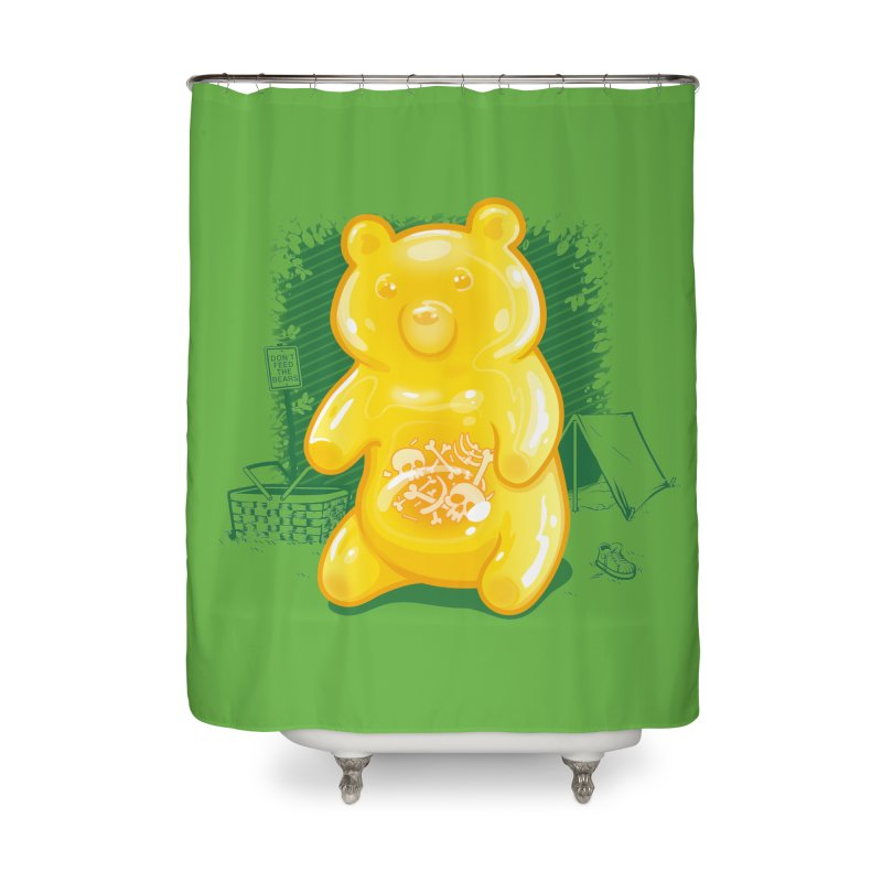 Grizzly Gummi Home Shower Curtain by thunderpeel