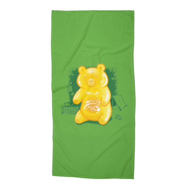 Grizzly Gummi Accessories Beach Towel by thunderpeel