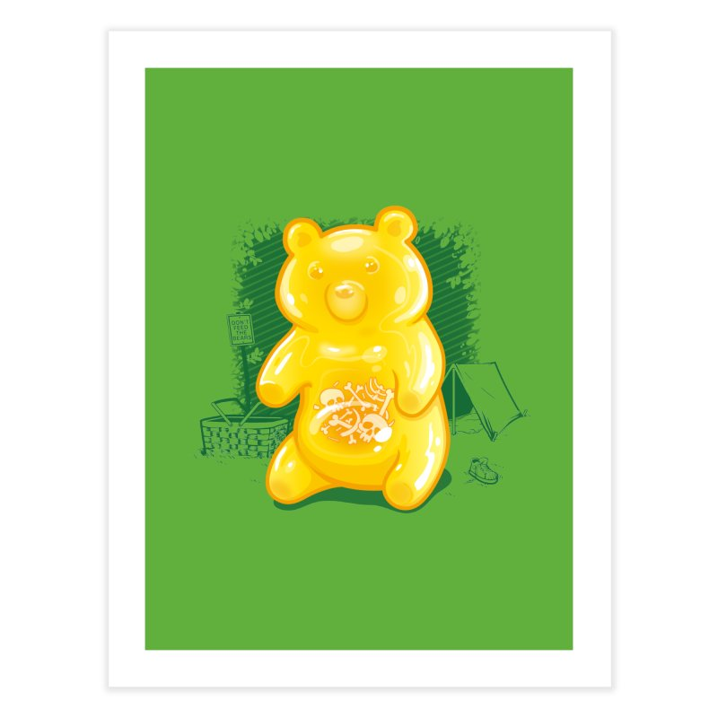 Grizzly Gummi Home Fine Art Print by thunderpeel