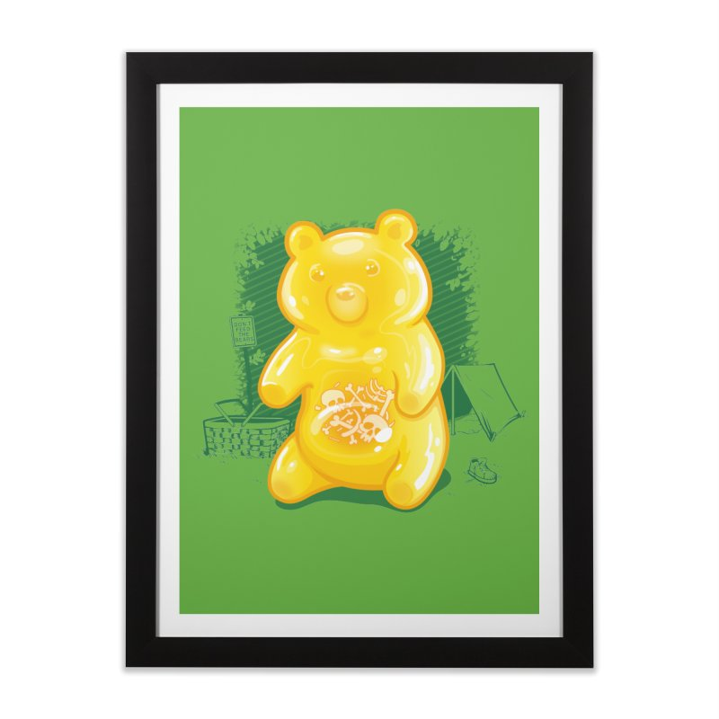 Grizzly Gummi Home Framed Fine Art Print by thunderpeel
