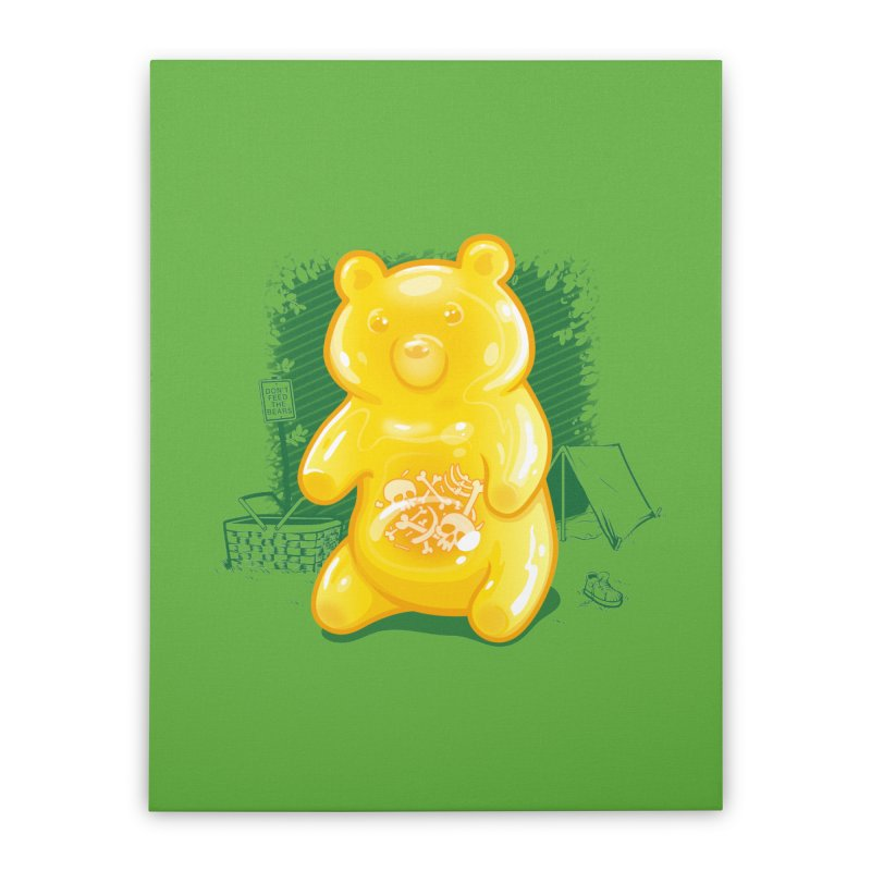 Grizzly Gummi Home Stretched Canvas by thunderpeel